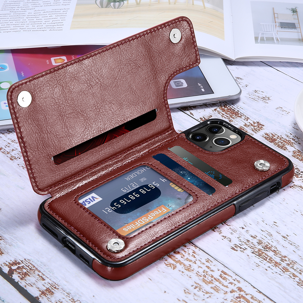 Free Shipping New Products Shockproof Leather Phone <strong>Case</strong> For iPhone 11 Pro Max Wallet Cell Phone <strong>Case</strong>
