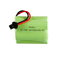NI-MH AA 900mAh Rechargeable Battery Pack 6V nimh