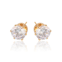 91747 Elegant ladies simply jewelry environmental copper artificial diamond stud earrings
