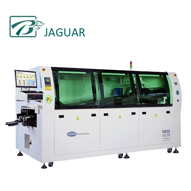 SMT Insertion line wave soldering machine for PCB Assembly line,lead free wave soldering price