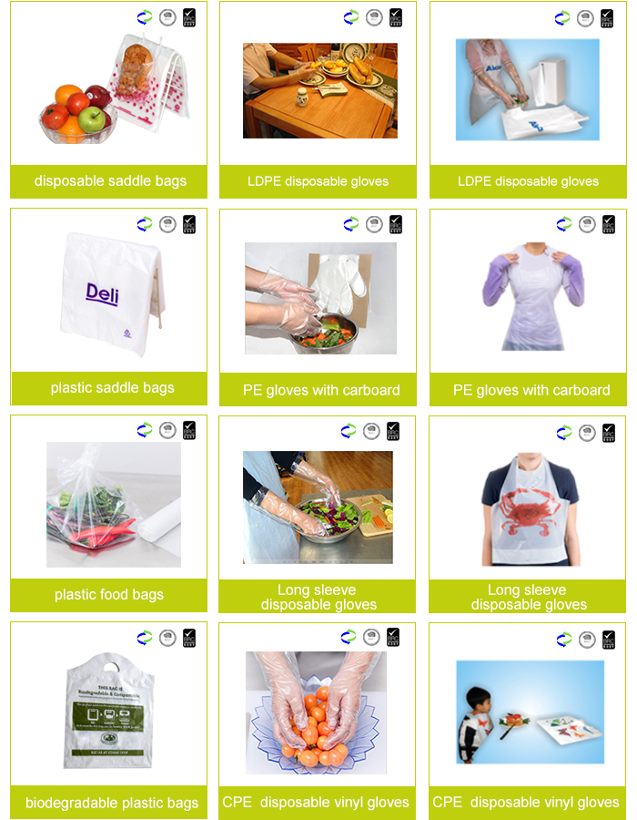 Printed Plastic Colorful Disposable Apron Hairdressing Clear High Quality PE Disposable Plastic Apron