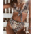 2019 sexy Leopard swimsuit Bow Tie Knot Bikini Two Piece swimsuit High Waist Bathing suit Push up Thong bikini women swimwear