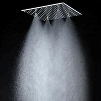 Luxury Bathroom Ceiling Showehead 2 Function rainfall and mist shower panel / square shower