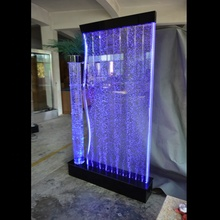 interior water feature wall floor standing water bubble wall with led light