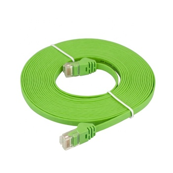 1M 2M 3M CAT5e Data Communication Cable Indoor/Outdoor Flat Drop Cable in LSZH Jacket