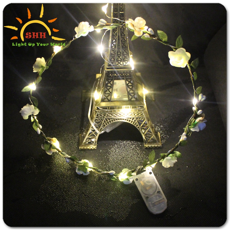 LED flower wreath decoration  events and celebration  ornaments