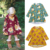 Children autumn fashion floral printed clothes cotton long sleeve baby girl smocked dress