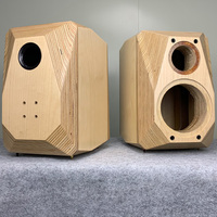 6.5/8 inch empty speaker cabinet two way real soild wood chassis/case/cabinet bookshelf speaker classic DIY