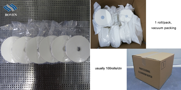 Lint Free Microfiber Fabric Cleaning Cloth LCD LCM SMT Cleanroom Cleanroom Roll Wipe For Wiping Machine