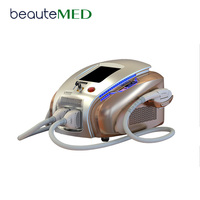 Beautemed Medical Ce Approved Nd Yag Q-Switch Commercial E-Light Ipl Rf Laser Hair Removal Machine Price