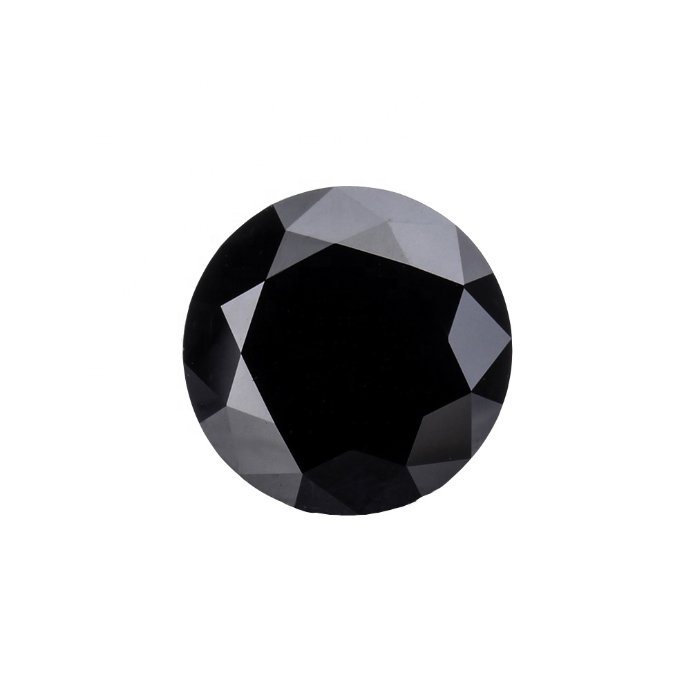 Custom Wholesale White Round Brilliant <strong>Cut</strong> Loose Black Moissanite