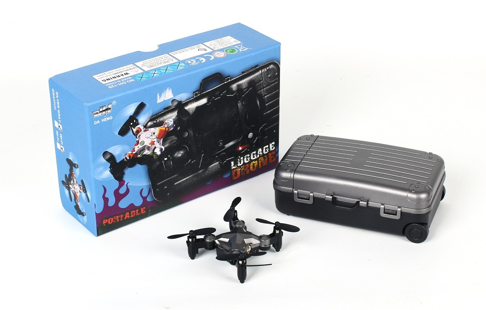 2.4G Wifi Dh-120 Portable Luggage Drone Mini with 480P camera