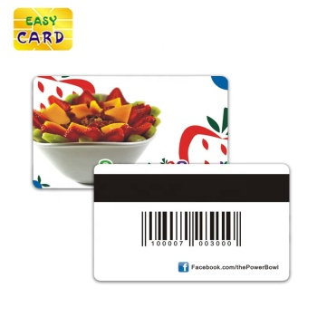 Customized Printing Plastic PVC Barcode Membership Gift Business Card