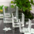 Simple Creative Water Mist Ripple Square Straight Transparent Water Culture Glass Vase Home Furnishings
