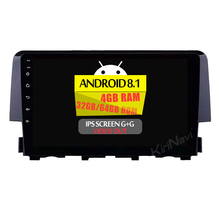 KiriNavi <strong>Android</strong> 8.1 9'' car radio player for Honda Civic 2016 + car multimedia player with gps 5G WIFI DAB+DSP Amplifier