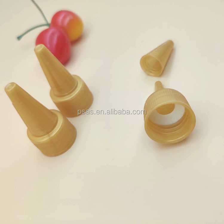 20mm small plastic twist up caps plastic soft squeeze bottle pointed nozzle caps