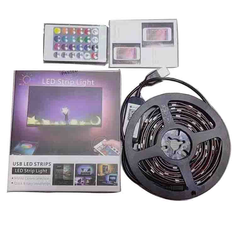 Decorations 5050 <strong>RGB</strong> LED Strip Light Colour Changing TV Back Mood Kitchen Lighting
