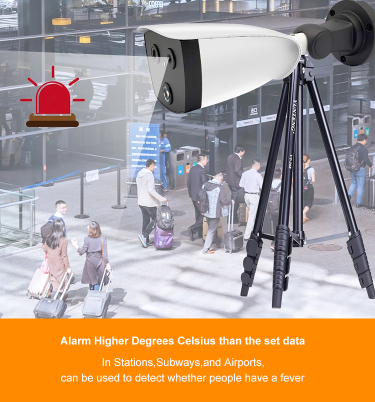 2020 Securaty camera system AI Binocular Thermal Imaging System High sensitivity thermal module with 256 x 192 resolution