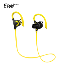 Eson Style Best Sports Earphones <strong>w</strong>/Mic Waterproof HD Stereo Sweatproof Earbuds for Running Bluetooth Wireless Headphones