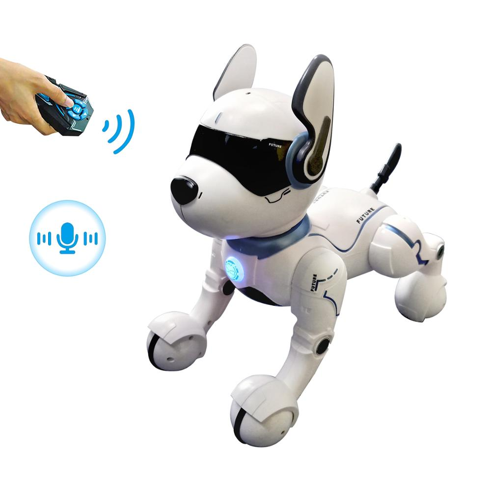 Voice Control Robot Speech Leidy Dog Animal Robot toys JXD <strong>A001</strong> Full function Lifelike Robotic Dog Puggy toys