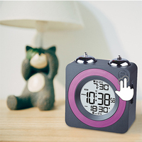 Loud alarm twin bell clock for heavy sleepers