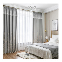 Hot <strong>Sale</strong> Embroidery Sheer Rideaux Curtain With Attached Valance For The Living Room Elegant