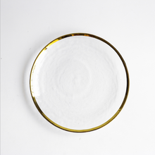 Gold Rim 10 inch Cheap Glass Dinner <strong>Plate</strong>