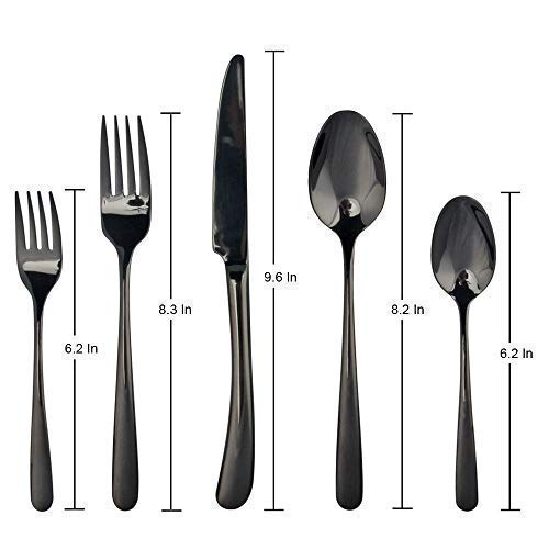 Amazon hot selling tapered handle flatware heavy table fork knife spoon stainless steel and set in stock