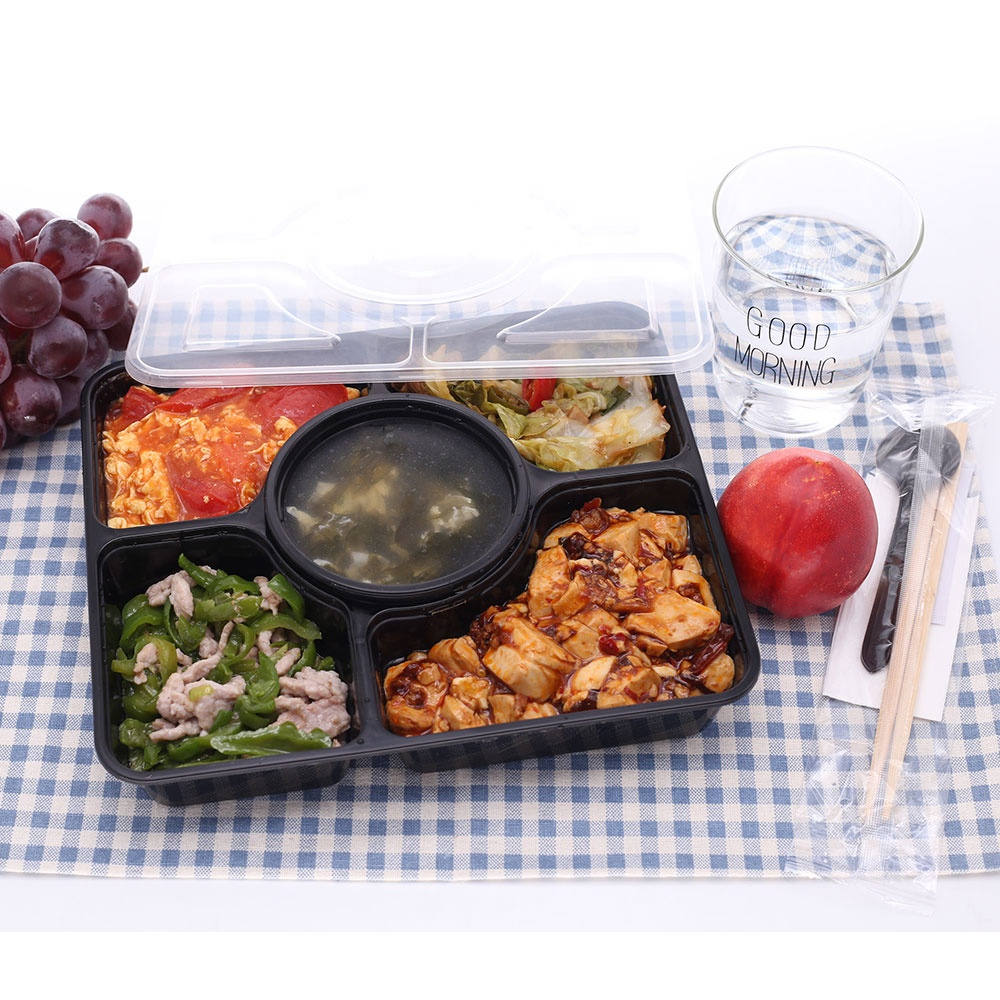 <strong>Pp</strong> take away fast disposable plastic food container lunch box for kids bento for shop