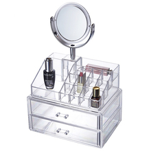 Best sale professional <strong>plastic</strong> makeup cosmetic <strong>case</strong> with mirror