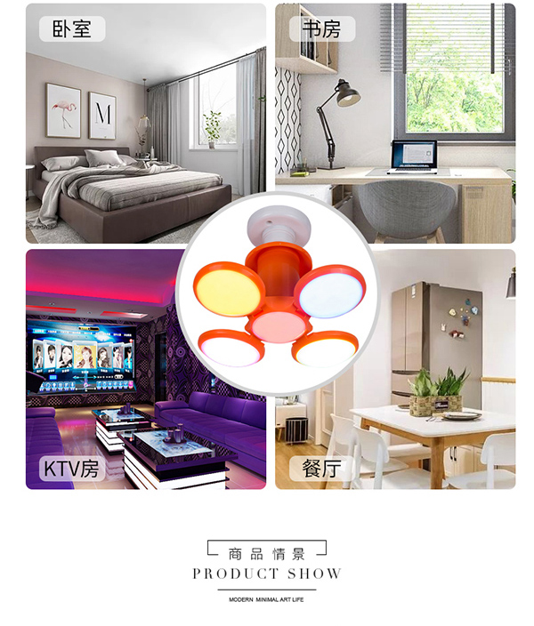 Fashion Design Hot Household Practical Durable Energy Saving 20W E27 Garage Lamp Work Lights Home Super Bright Foldable Led bulb