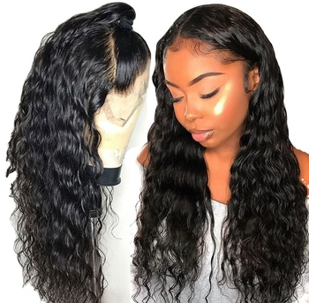 GS Natural Remy Brazilian Human Hair 40 Inch HD Lace Wig For Black Women,Pre-Plucked Natural Black Human Hair Lace Front Wigs