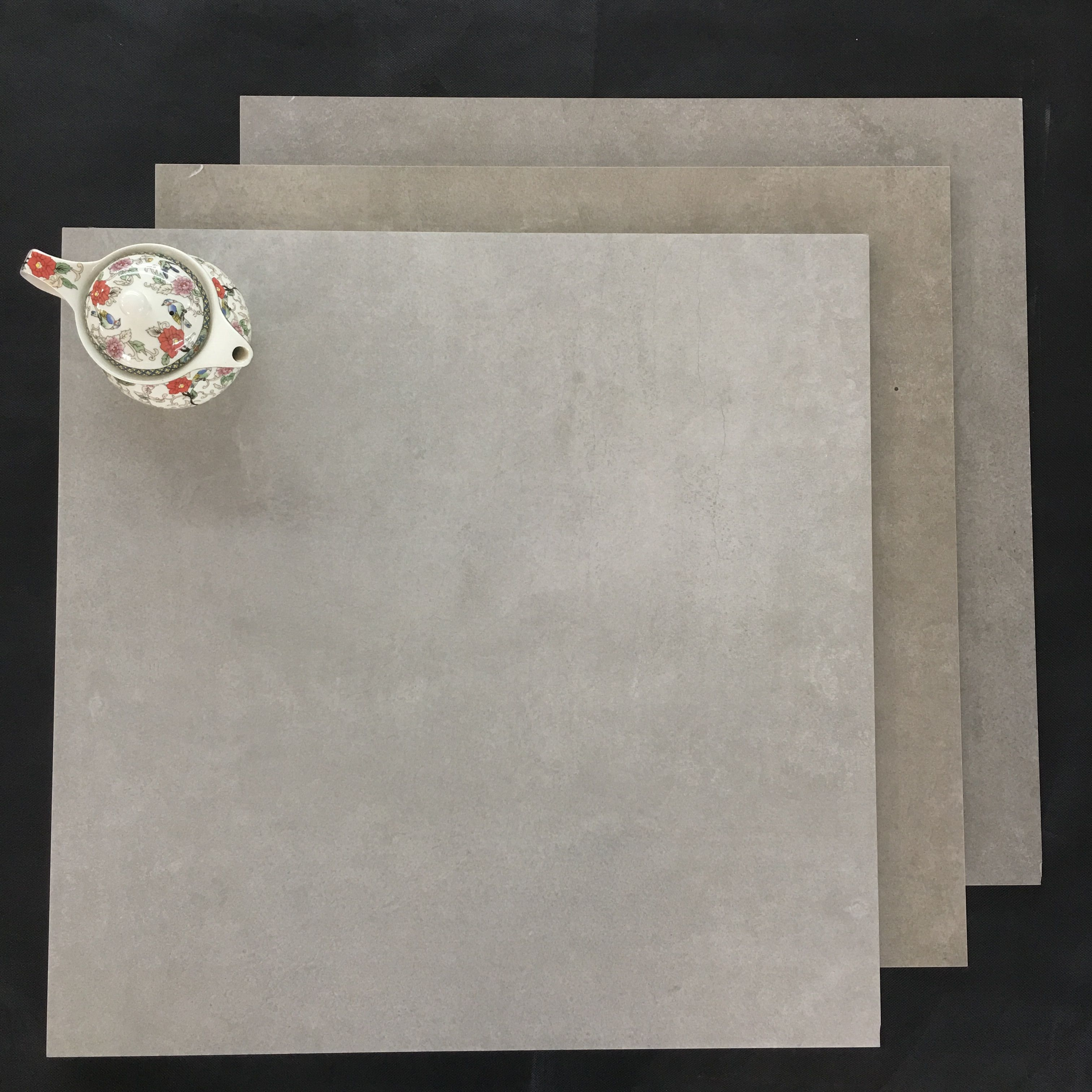 Cheapest <strong>Ceramic</strong> with Price Grey Porcelain Bathroom Wall Tile Rustic Floor Tile 600x600mm