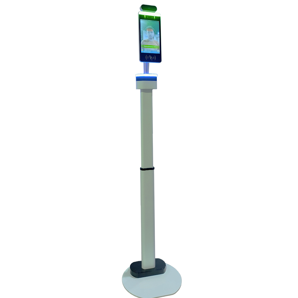 Face Recognition Temperature Measurement Kiosk Support Face Comparison Library/Attendance/Visitor Management Adjustable stand