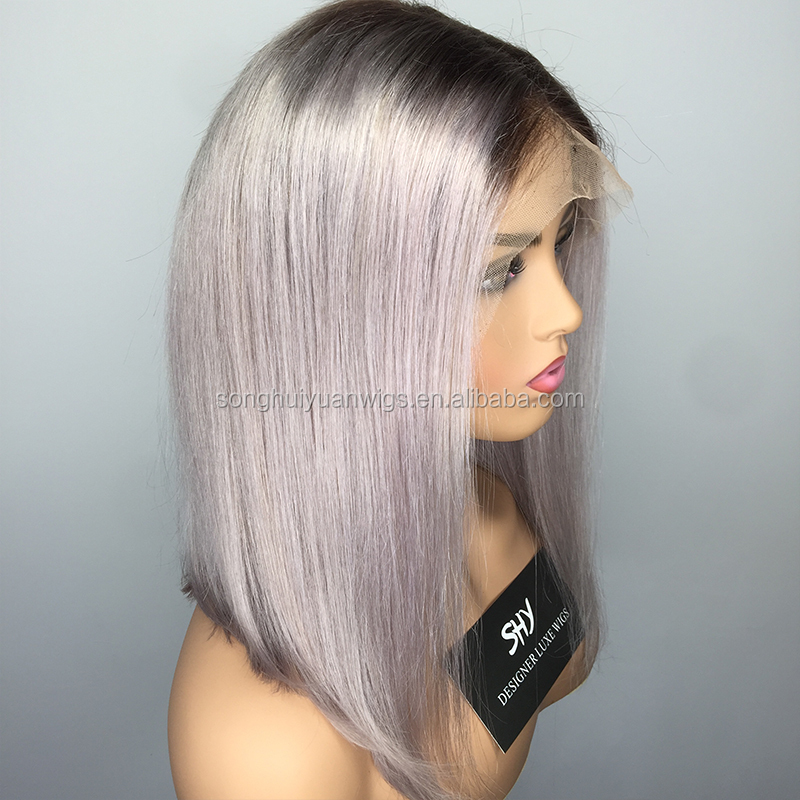 Promotion Short Bob Inexpensive Online Female Grey Wig For Sale