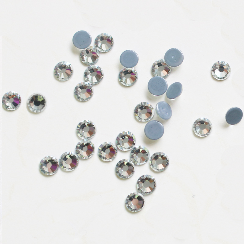 Y0909 china high-end 10ss 3mm crystal color hotfix rhinestone, swarovski crystals hot fix for t-shirt