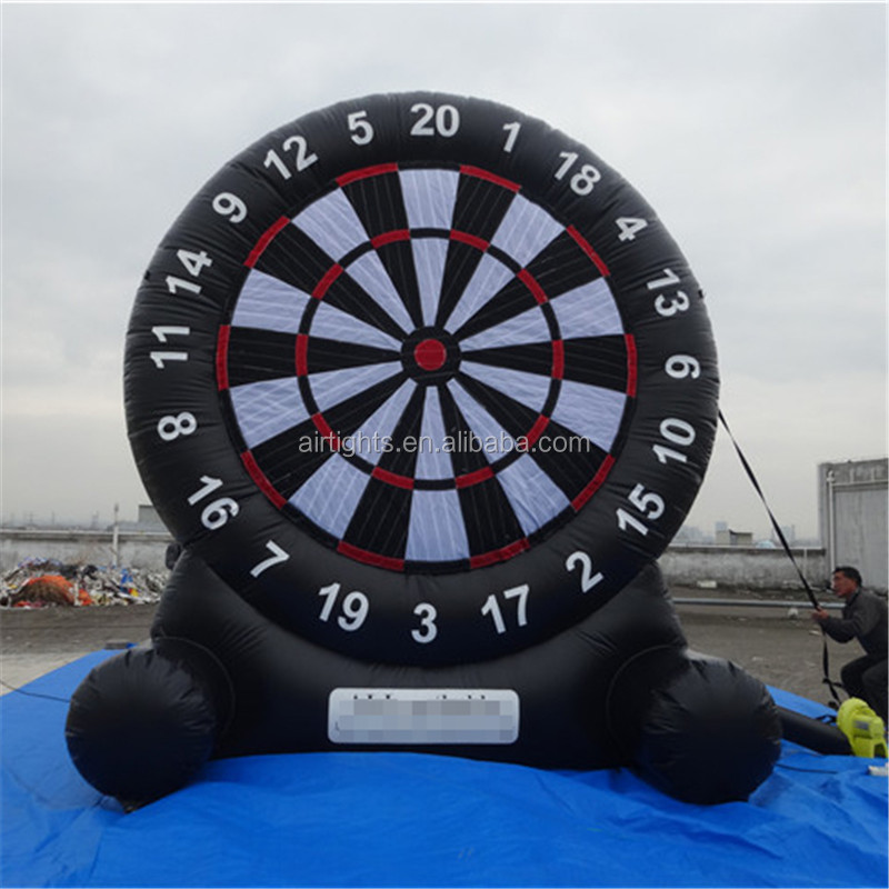 Latest craze inflatable shooting game low price inflatable soccer dart board