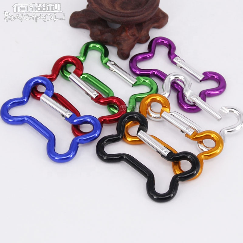 Dog Bone Shaped Aluminium alloy spring <strong>Hook</strong> for Carabiner