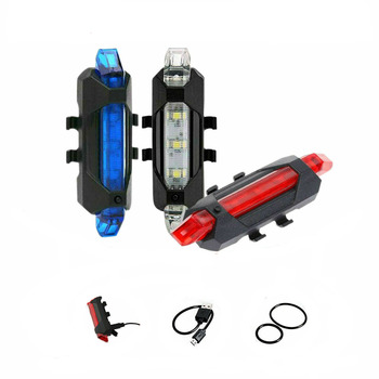 Portable Rechargeable LED USB Cycling Bike Light COB Tail Light Bicycle Rear Light