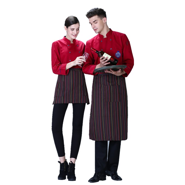 Latest cook wear double breasted chef uniform