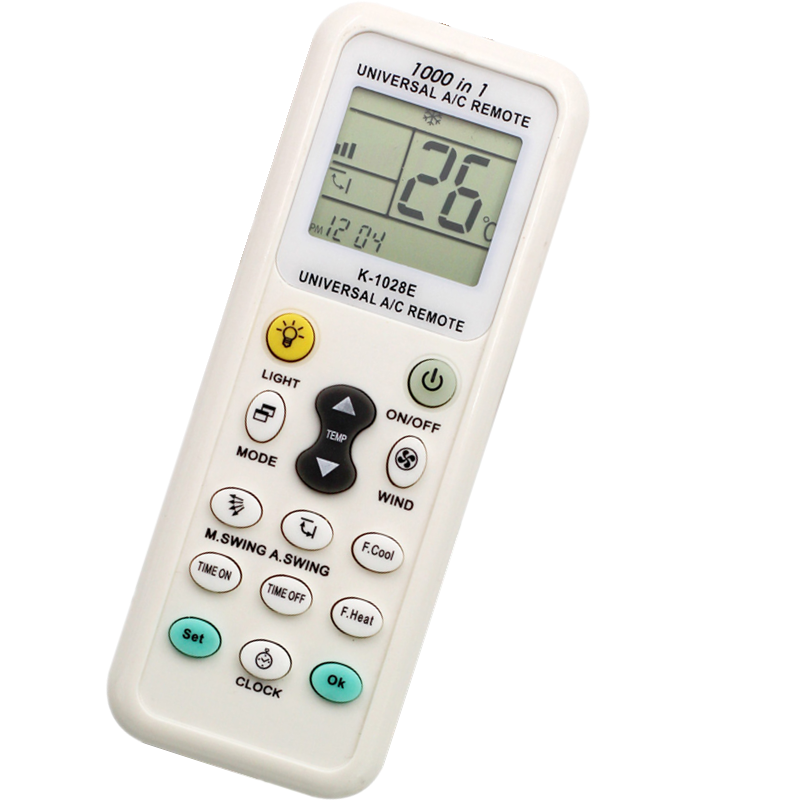 ZF White 15 Keys UNIVERSAL A/<strong>C</strong> REMOTE CONTROL K-1028E <strong>1000</strong> in 1 Air-conditioner controller with Blister Package and manual