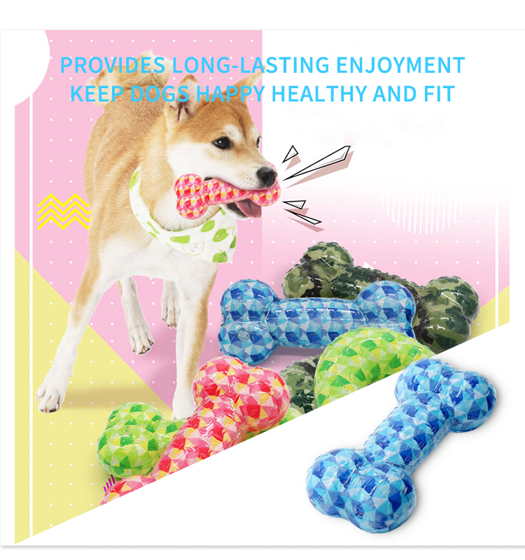 Eco-friendly chewing bite-resistant dog toys chewing rubber pet training toy