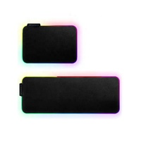Gaming rubber USB connect RGB lighting mouse pad LED shining mouse pad