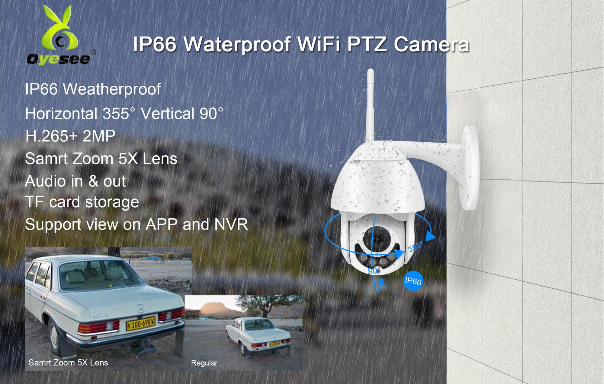 icsee app outdoor mini 1080P ptz 5X optical zoom  best wireless outdoor ip camera with night vision