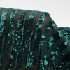 Fashion French High Quality Green Beaded Lace 3D Embroidery Sequin Fabric For Wedding