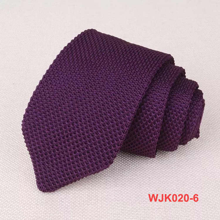 Various Color 100% Polyester Fashion Plain Knitted Mens Neck Ties