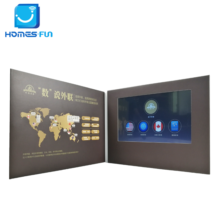 Hd lcd display video card business for advertising borchure e brochure