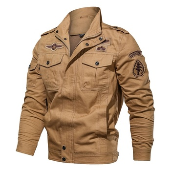 2020 New Arrival Cotton Military Jacket Men Autumn Soldier Style Army Jackets Male