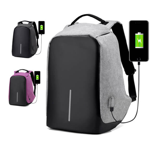 Trending 2020 waterproof business 15.6 Inch anti theft USB charge laptop backpack bag
