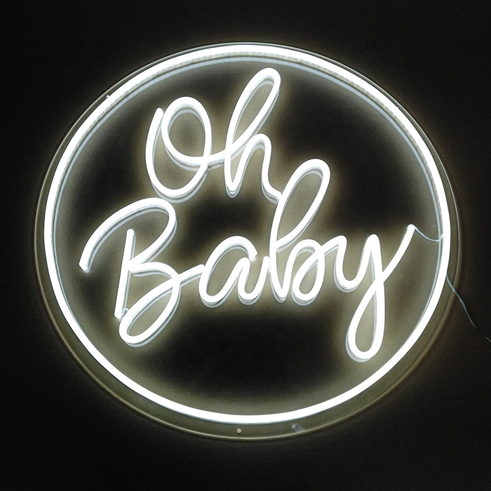 2020 Custom made oh baby led neon <strong>sign</strong> birthday party neon <strong>sign</strong>